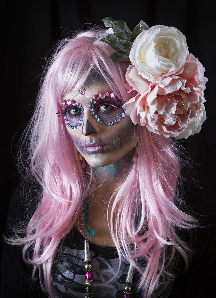 Sugar skull makeup. #halloween #sugarskull
