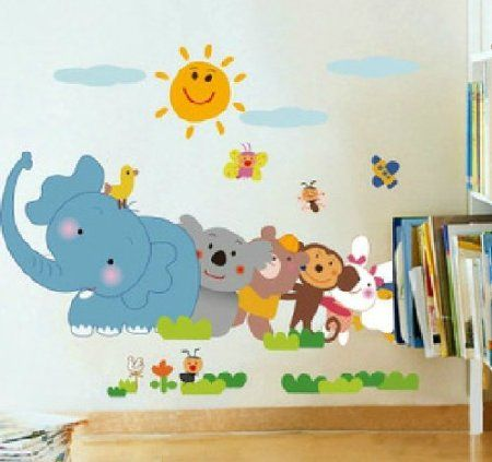 Wall Stickers For Kids Stick Wall Decals Decoration Wall Sticker Decal    Elephant And His Friends Part 85