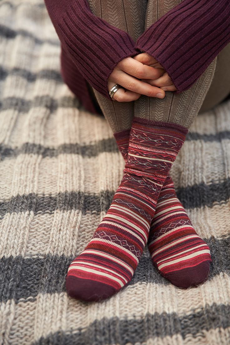 SmartWool's Ethno Graphic Crew is a fresh take on traditional stripes and part of the ultra-comfy 3-Sock Set. A can't miss gift!
