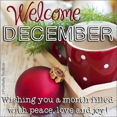 Welcome December. Wishing you a month filled with peace, love and joy! #december welcome december december quotes christmas