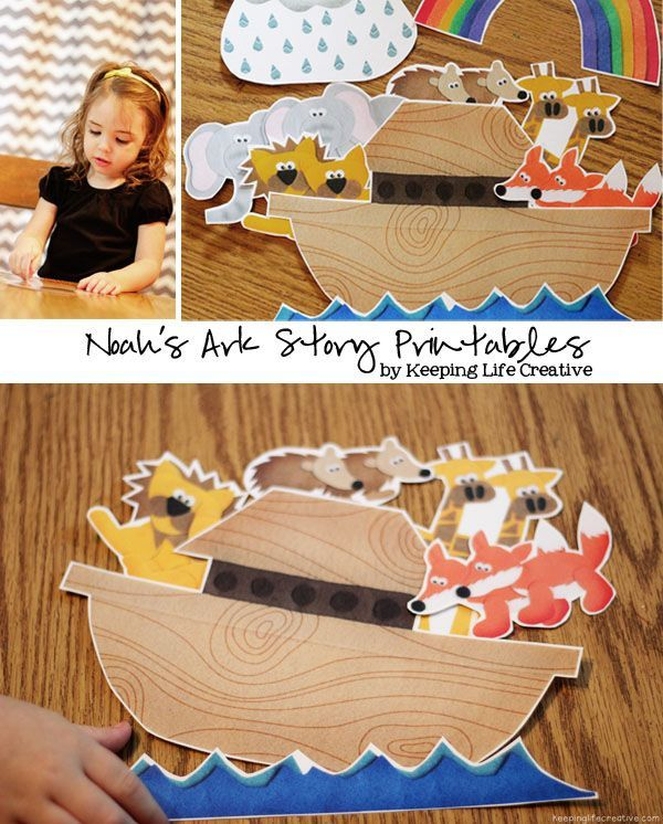 Teach the principle of obedience with a fun object lesson and adorable Noah's Ark storytelling printables. Storytelling props are a great teachi