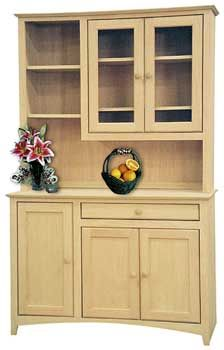 Pine Shaker Hutch Only, Also In Maple U0026 Oak   Unfinished Furniture New  Jersey, New York And Pennsylvania Offering Unfinished Wood Hutch, Unfinished  Stemware ...