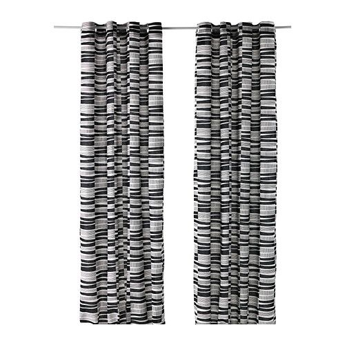 LAPPLJUNG RAND Curtains, 1 pair IKEA Linen gives the fabric a natural, irregular texture and makes it feel firm to the touch. $59 for 1 pair