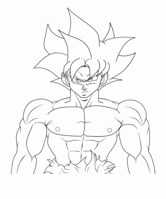 Goku Coloring Pages In 2020 Cartoon Coloring Pages Coloring