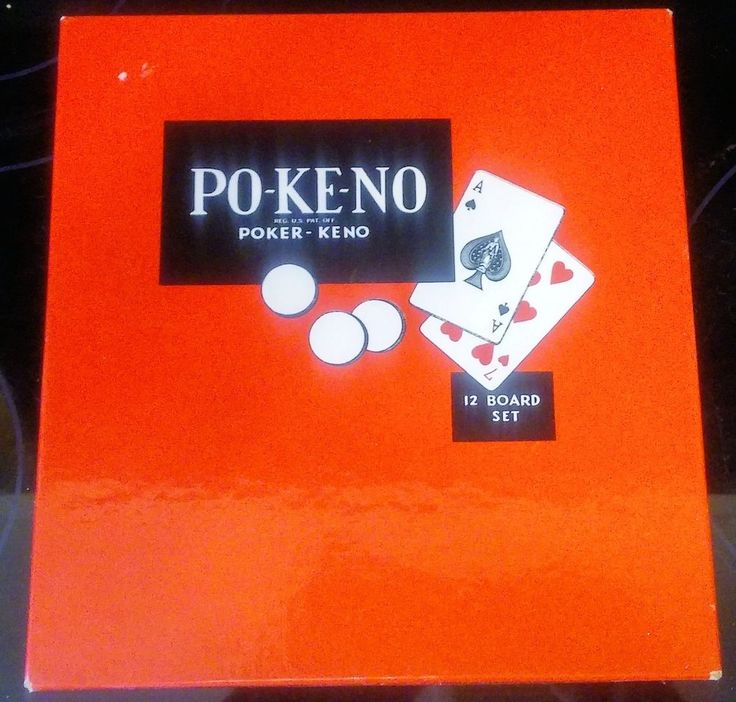 VINTAGE PO KE NO Poker Keno 12 board Chips