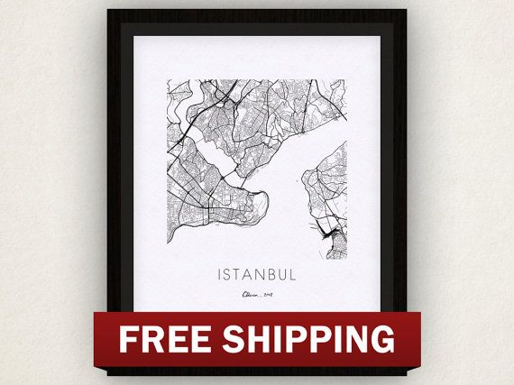 Istanbul Map Print by iLikeMaps on Etsy