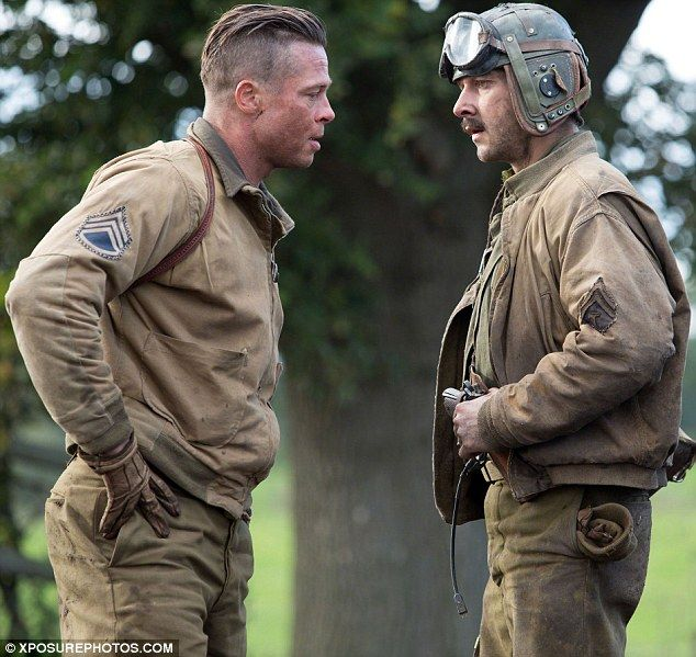 Brad Pitt, Fury, Hairc...