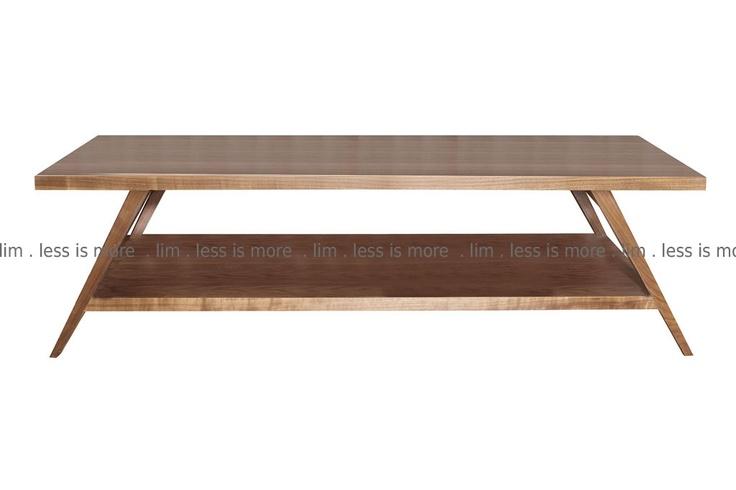 LIM walnut retro coffee table