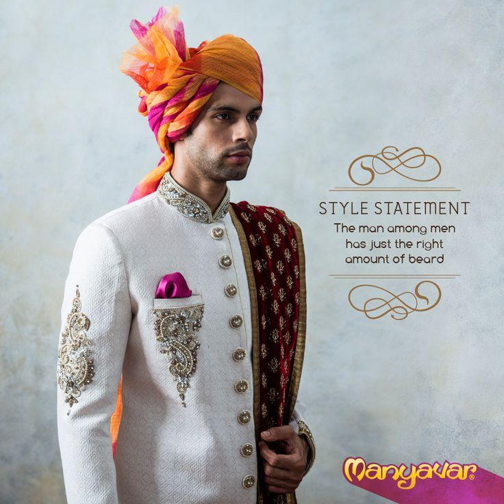 Star studded #Sherwani. #Indian #Weddings #Menswear