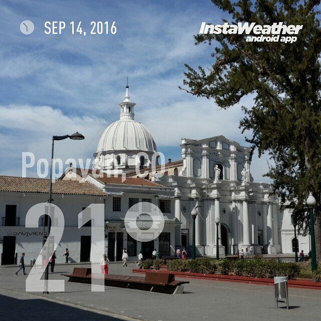 #Clima #PopayánCO min: 16ºC max: 27ºC Mañana: Cielo Parcialmente Nublado Tarde: Cielo Parcialmente Nublado Noche: Lloviznas