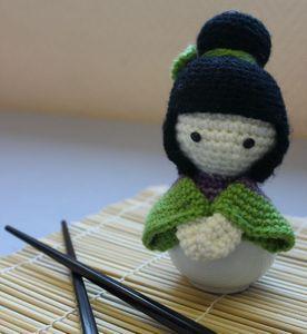 Kokeshi warrior doll (free pattern in French / modèle gratuit en français)