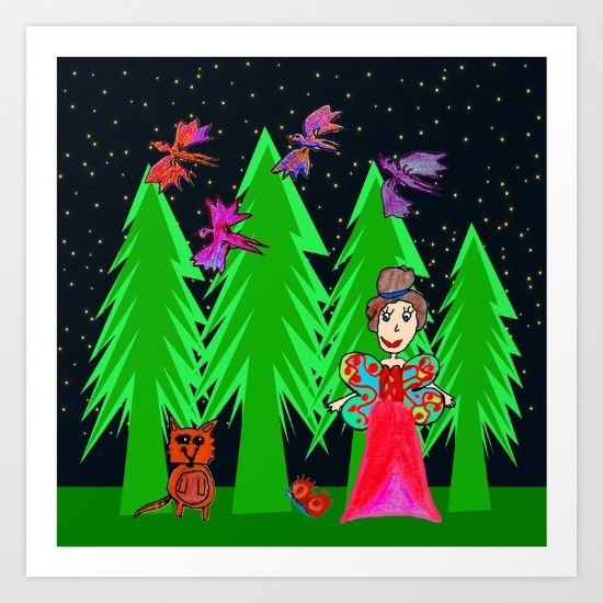 Night Fairy | Before Christmas | Kids Painting - $17.68