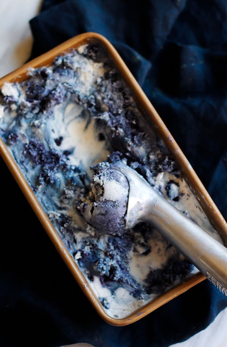 "grayskymorning: "" Wild Blueberry Lavender Coconut Ice Cream """