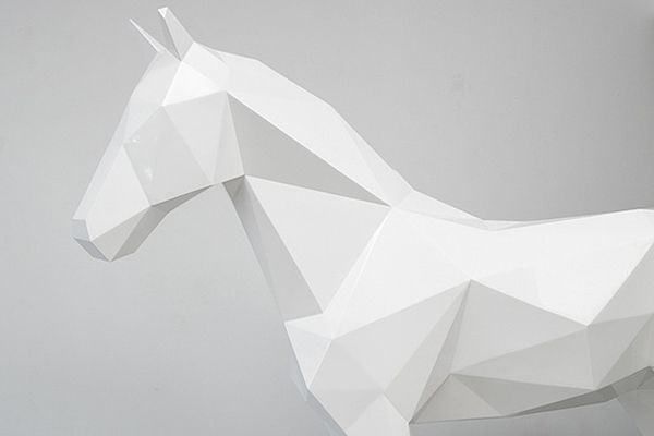 Polygonal Animal Statues by Ben Foster