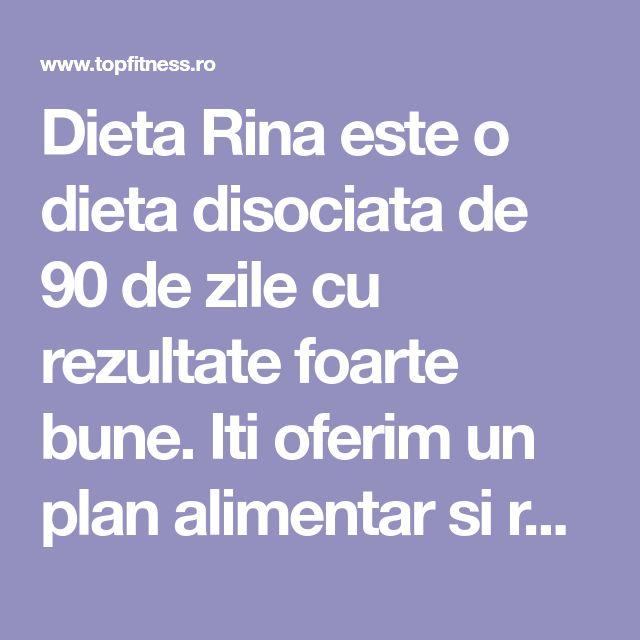 Dieta Rina este o dieta disociata de 90 de zile cu rezultate foarte bune. Iti oferim un plan alimentar si retetele pe care sa le folosesti timp de 3 luni.