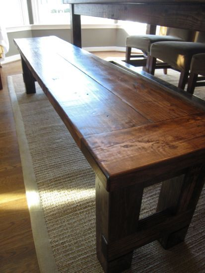 diy plans to build the matching farmhouse bench goes with farmhouse table www - Kitchen Table Bench