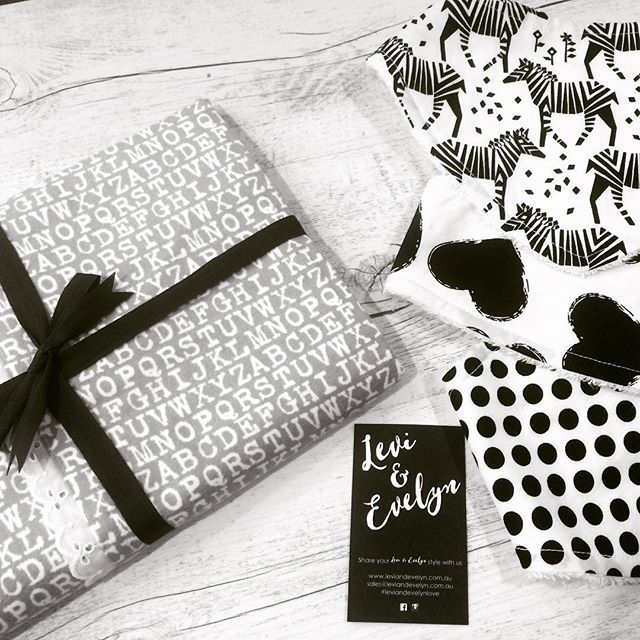 Can't wait for these lovelies to meet their new family. X  #leviandevelynlove #monochrome #bandanabibs #swaddles