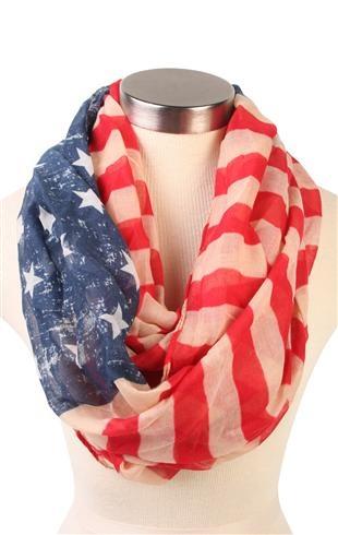 Deb Shops #american #flag infinity #scarf