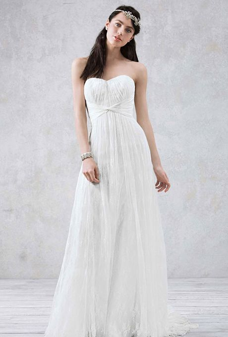 Flowing chiffon gowns ready for your vow renewal gowns for Wedding vow renewal dresses