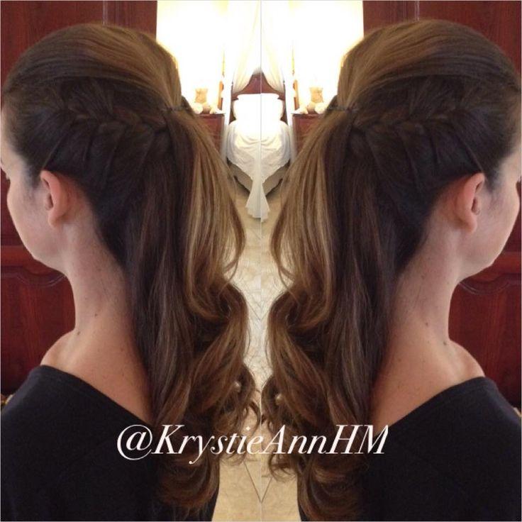 Hair: www.krystieann.com Brunette updo, brunette hair, bridal bun, elegant updo, punta cana bride, punta cana wedding, majestic resorts, bridesmaid hair, braided updo, half up updo