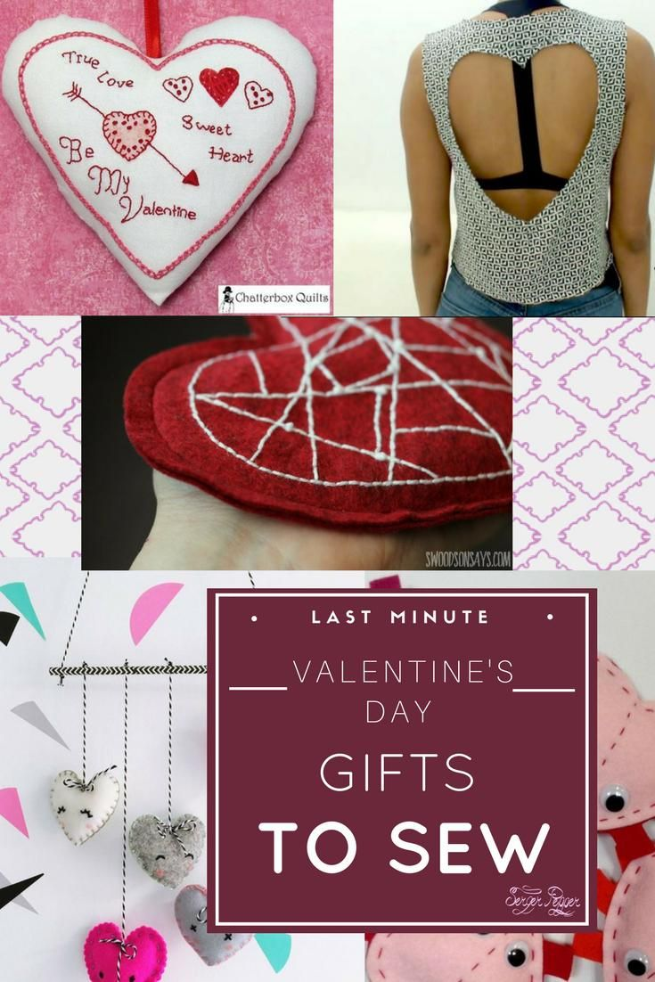 Are you in search of some lovely last minute #Valentine's day gifts to sew? It's that time of the year when #love is all around and heart-shaped projects are everywhere. Here are 120+ ideas perfect for some last minute Valentine's day gifts you can quickly #sew. Only on SergerPepper.com