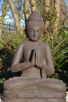 Namaskara Boeddha Groensteen 80 cm