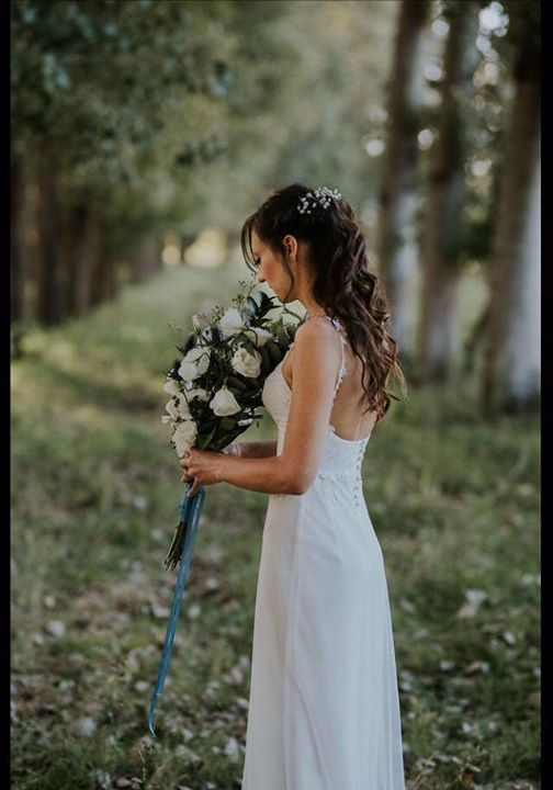 Gorgeous Dimity bride, Lezaan at her whimsical forest wedding in stunning KZN.