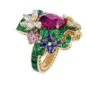 「ディオール」ヴェルサイユ宮殿の庭園が着想のハイジュエリー、瑞々しい草花をダイヤモンドやエメラルドで - 画像46