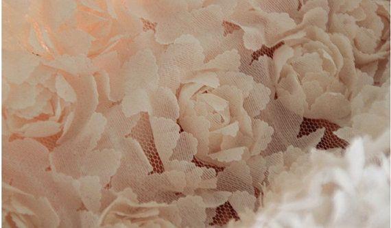 >> Click to Buy << peach pink Rosette fabric, wedding backdrop fabric, chiffon rosette fabric, photography backdrop fabric, one yard #Affiliate