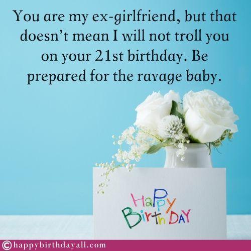 50 Happy Birthday Wishes For Ex Girlfriend Birthday Poems For Ex Gf Birthday Wishes For Myself Happy Birthday Fun Birthday Wishes