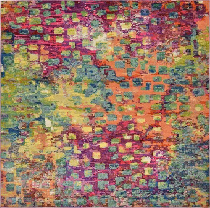 Multi 12' 2 x 12' 2 Casablanca Square Rug | Area Rugs | eSaleRugs