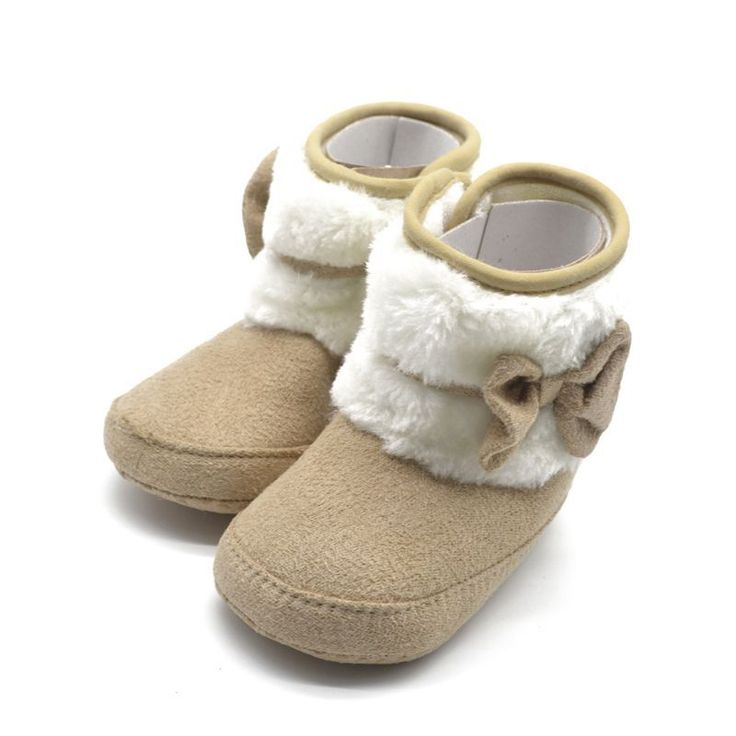 >> Click to Buy << Toddler Kids Winter Woolen Snow Boots Bowknot Infant Soft Sole Baby Shoes #Affiliate