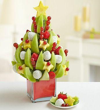 Cute Christmas Tree Fruit Arrangement