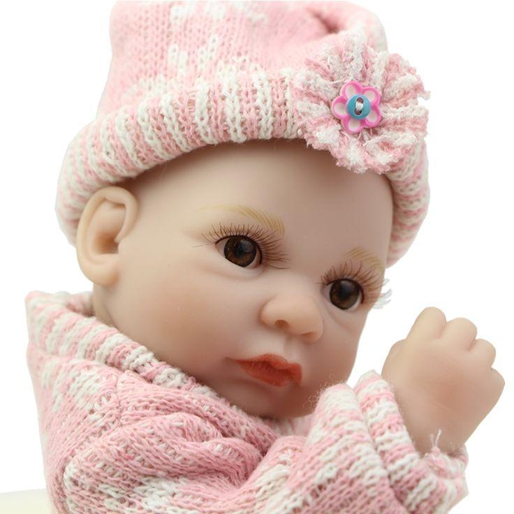 31.19$  Buy here  - 11 Inch Reborn Boy Babies Dolls Real Touch Baby Doll Reborn Lifelike Full Silicone Soft Newborn Boneca Kids Birthday Gift