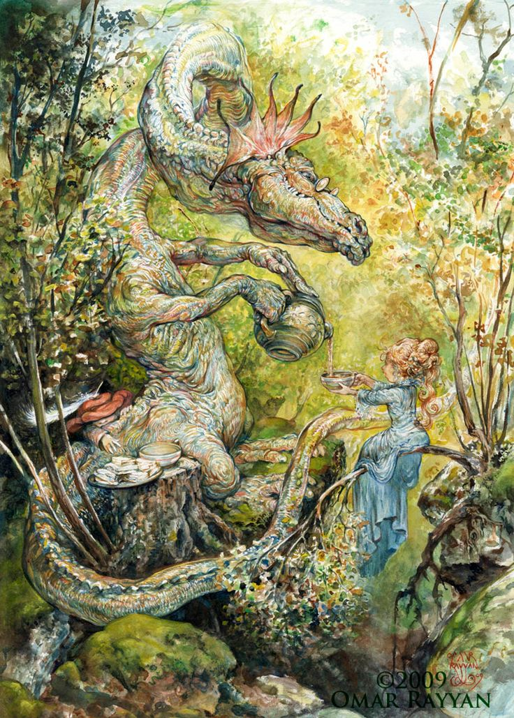 Omar Rayyan #dragon I love Omar Rayyan's work, the whimsy, the imagination, the detail. What's not to love?