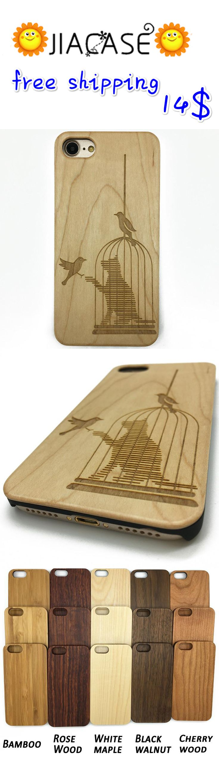 Simply Impressed #Birdcage #Cat #Wooden #Case for #iPhone & #Samsung Galaxy