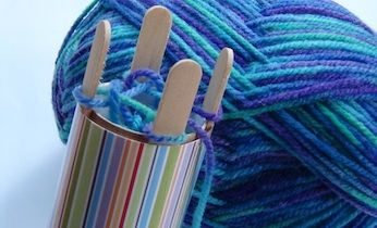 "FREE Resource~  It's easy to make your own French knitting machine from a toilet roll, craft sticks, masking tape, and some yarn.  The helpful video shows how to make the knitting machine, and then how to knit with it.  Fun craft idea, or use it to introduce writing an expository ""how-to"" paragraph."