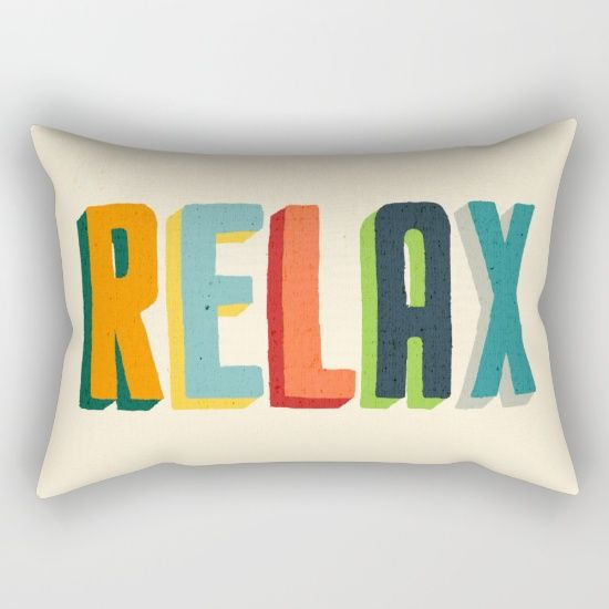Love the colors, matches my home perfectly! // Relax Rectangular Pillow