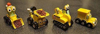 Mini véhicules de la construction de résine décoration gâteau Ornament Camion Benne Grue jouet | eBay