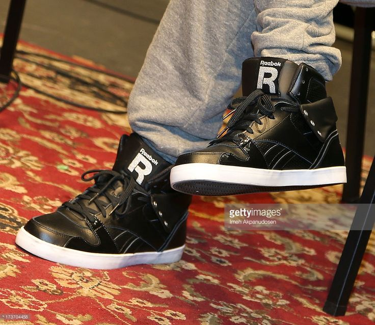 Singer A.J. McLean (shoe detail) attends the 9th Annual GRAMMY Camp at University of Southern California on July 16, 2013 in Los Angeles, California.