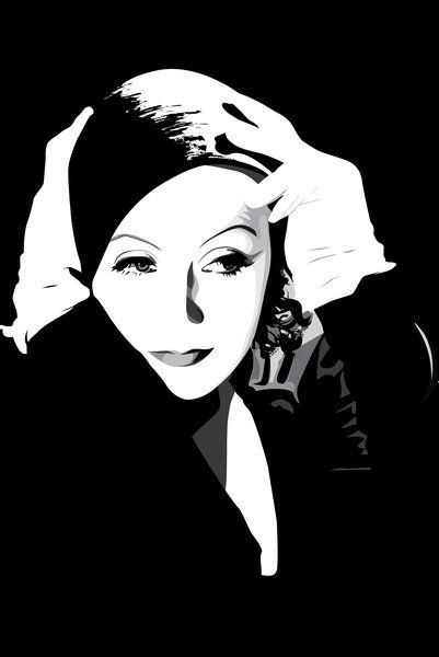 DeviantArt Shop Framed Wall Art Prints & Canvas | Digital Art | Vector | Greta Garbo by artist *pin-n-needles