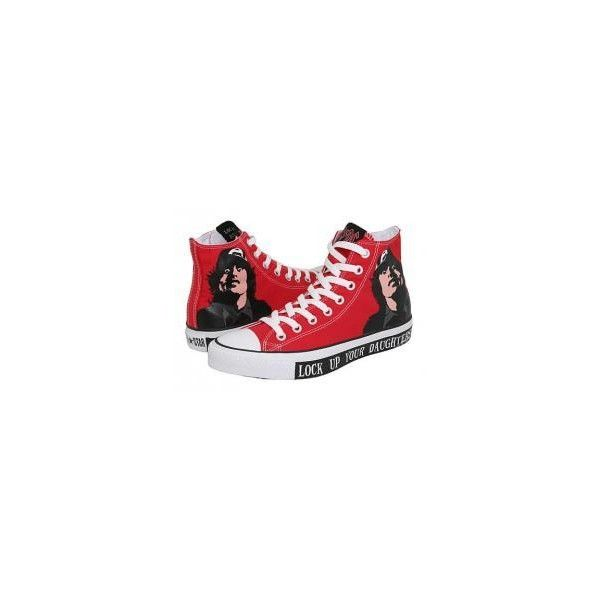 Trampki Converse AC/DC ❤ liked on Polyvore featuring shoes