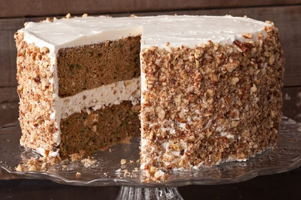 Zucchini Layer Cake with Tangy Buttercream Frosting