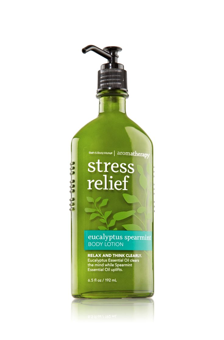 Bath & Body Works Aromatherapy Body Lotion Stress Relief -Eucalyptus Spearmint (This provides relief to the neuropathy I have in my feet, too, besides just smelling AWESOME!)