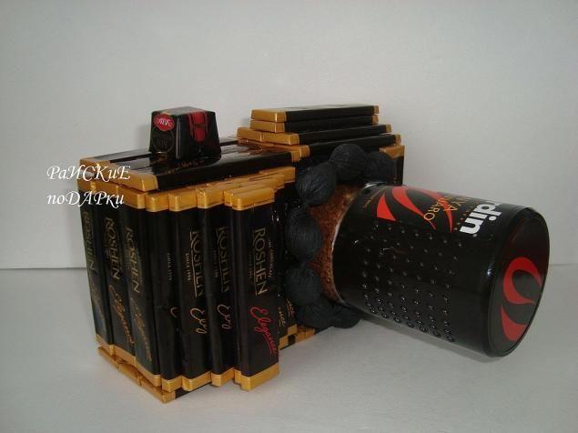 """Мастер-класс """"Фотоаппарат из шоколада и кофе"""" - Ярмарка Мастеров - ручная работа, handmade"""