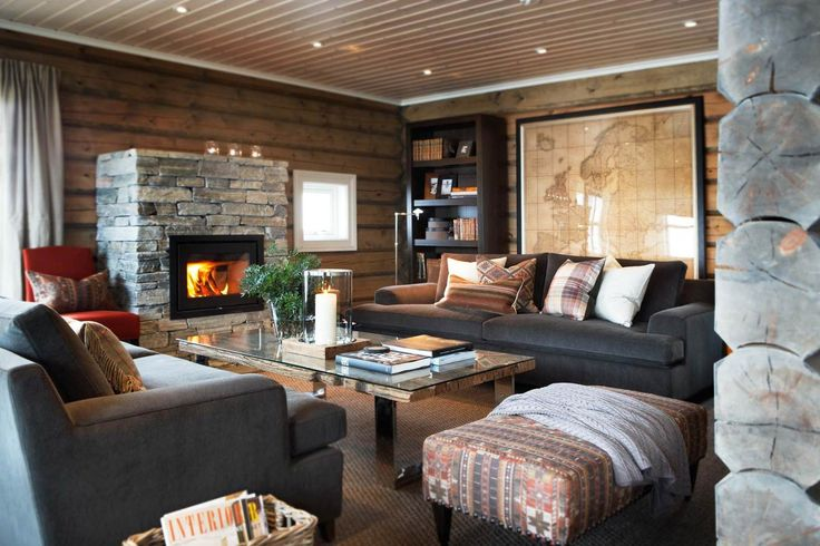 I could live in this room. Love the combo of warm wood and cool gray.
