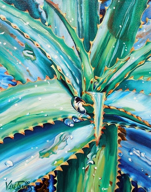 C.j. Vanjames 'Aloe Vera Tequila Rain' Painting Oil, 2007 - Free Artist Portfolio - absolutearts.com
