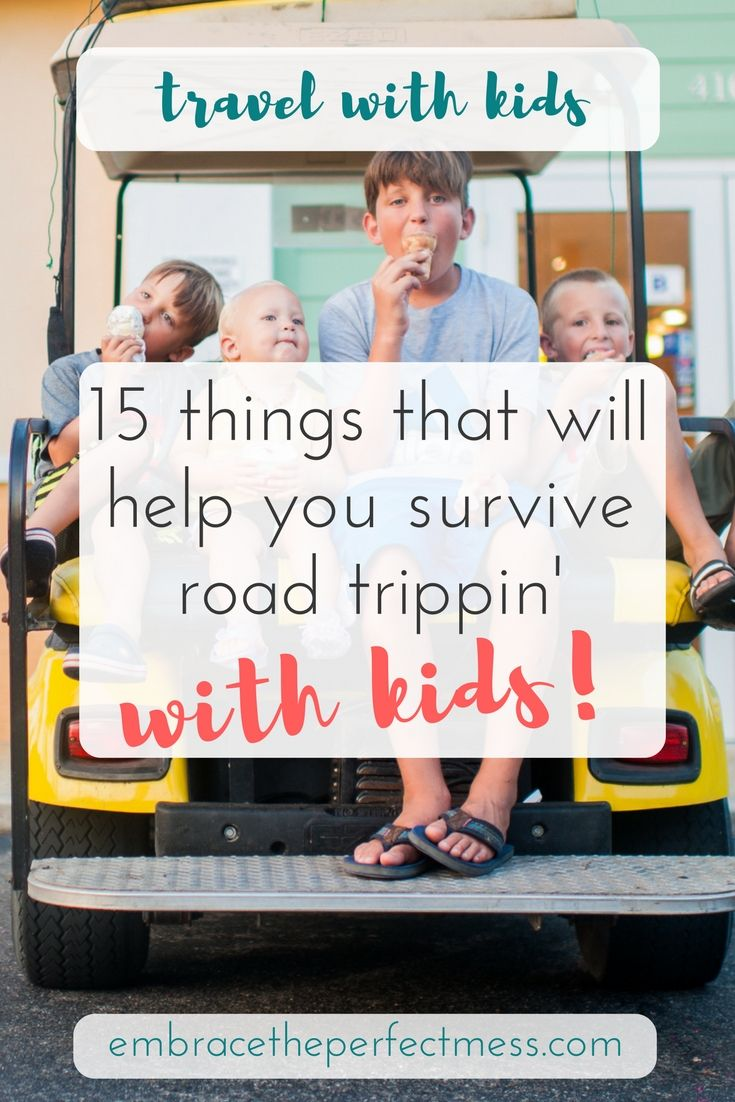 we definitely travel with these things when we take a road trip with the kids.  great tips!