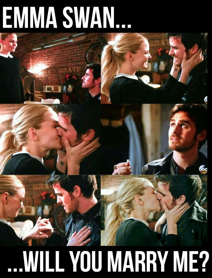 """""""This time I'm gonna do it the right way.. Emma Swan... Will you marry me?"""" 6x17 """"Awake"""" #ONCE #onceuponatime #CaptainSwan"""