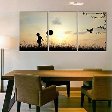 Stretched Canvas Art Childhood Memories Set of 3 – USD $ 69.99
